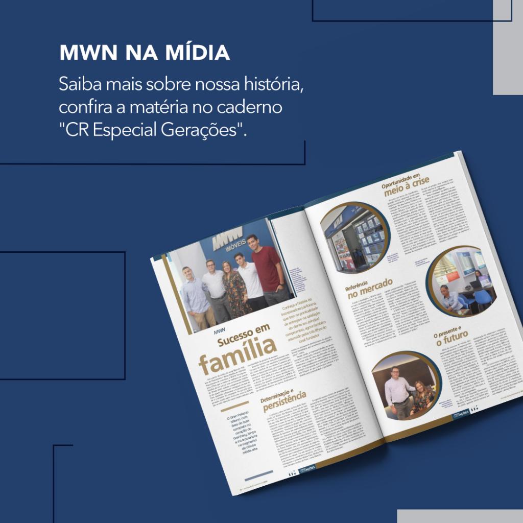 """Trajetória de empreendedorismo da MWN integra o caderno """"CR Especial Gerações"""""""